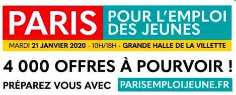 Le CFA Afanem participe au Paris pour l'Emploi des Jeunes le 21 janvier 2020