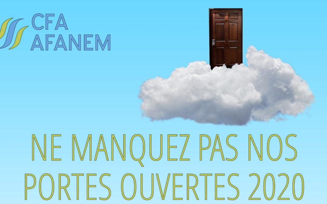Ne manquez pas les portes ouvertes 2020 du CFA Afanem !