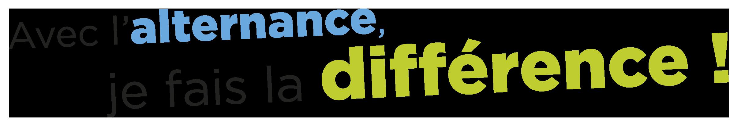 Slogan de l'Afanem Avec  l'alternance je fais la différence